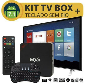 Mx9 Box Tv Mais Mini Teclado Bluetooth