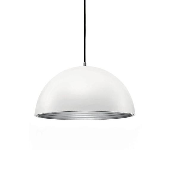Luminária Lustre / Pendente Alumínio Branco Fosco Lt-731g-br