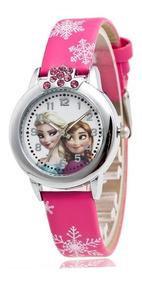 Relógio Elsa Frozen Strass Ou Minie Mouse Volta Às Aulas