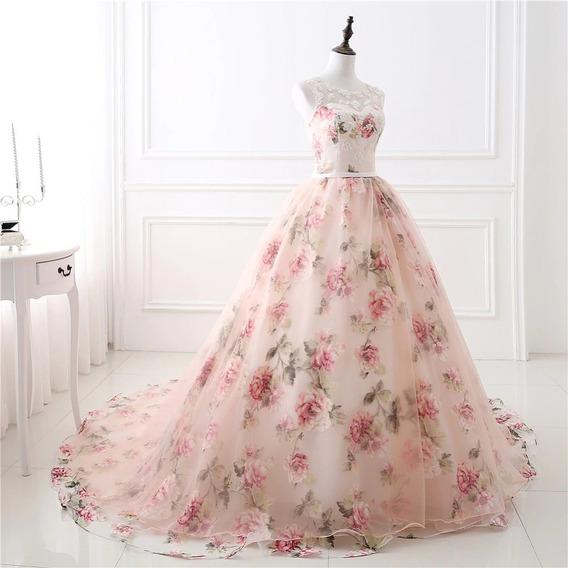 Vestidos De 15 Años 2019 Color Rosa Salmon Ropa Bolsas Y