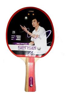 Paleta Ping Pong Sensei 2 Estrellas. Tenis De Mesa Pingpong
