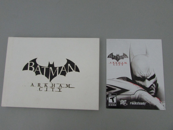 Batman Arkham City Jogo Ps3 Com Collectible Artbook