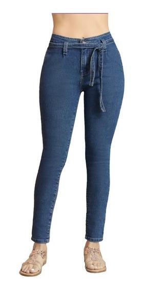 Jeans Con Cinturón 90