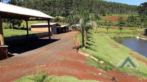 Chácara Com 5 Dormitórios À Venda, 36000 M² Por R$ 600.000,00 - Papua - Faxinal/pr - Ch0184