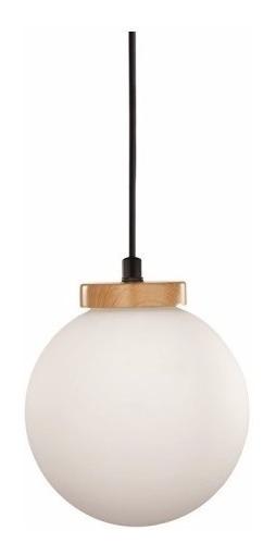 Pendente Luminária Em Vidro E Madeira Estilo Moderna Luxo