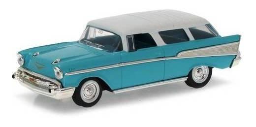 1957 Chevrolet Nomad Azul - Escala 1:43 - Yat Ming