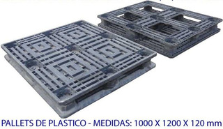 Palete Pallet Pallets Plástico 100x120x12 Cm P/ 1.000kgs