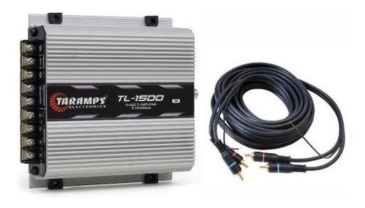 Modulo Taramps 390wrms Tl1500 3 C Mono Estereo + Cabo Rca 5m