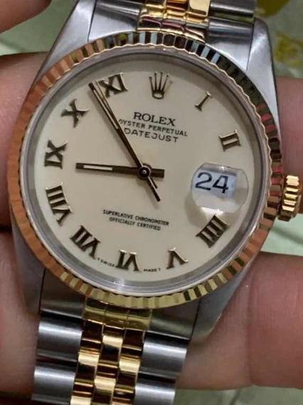 Rolex Datejust Num Romanos Cristal Zafiro Cambio Rapido Sub