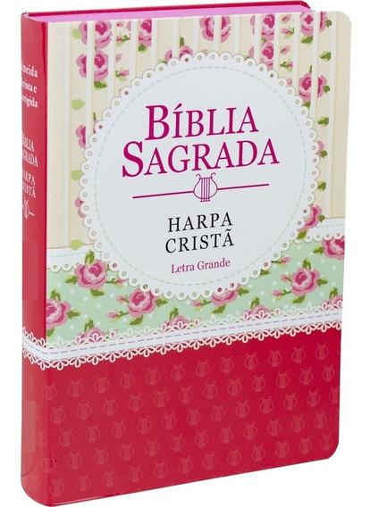 Kit Com 10 Bíblias Sagradas Harpa Cristã Grande Feminina