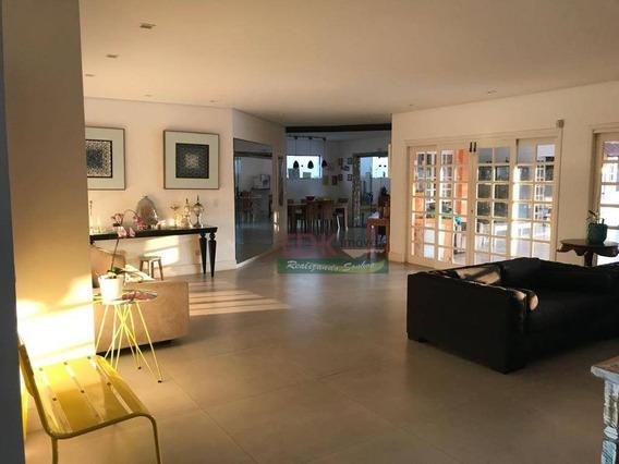 Linda Casa Com 4 Dormitórios À Venda, 445 M² Por R$ 1.800.000 - Tremembe - Tremembé/sp - Ca2712