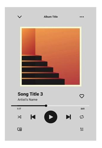 Quadro Musica Spotify Personalizado Em Acrílico Com Suporte