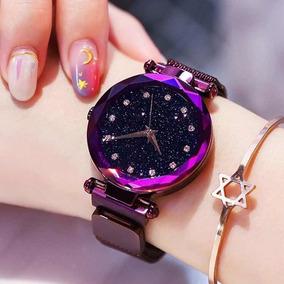 Relógio Céu Estrelado Pulseira Magnética Imã