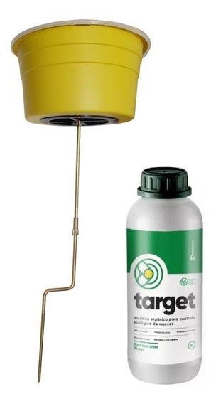 Armadilha Mosca Atrativo Target Não Agride Ambiente 1 Litro