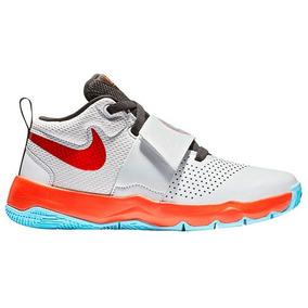 Tenis Basquetbol Nike Hustle Hombre Sint Blanco K02988 Dtt