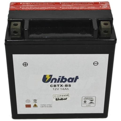 Bateria Unibat Cbtx16-bs1 Vl1500boulevard/suzukivs1400/intru