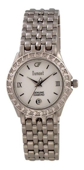 Relógio Dumont Diamond Com Calendário E 28 Diamantes