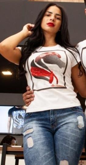 Camiseta Ekwos Maria Bonita Tam M 100% Orig