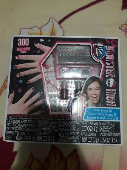 Juego Juguete Kit De Uñas Para Niña Monster High