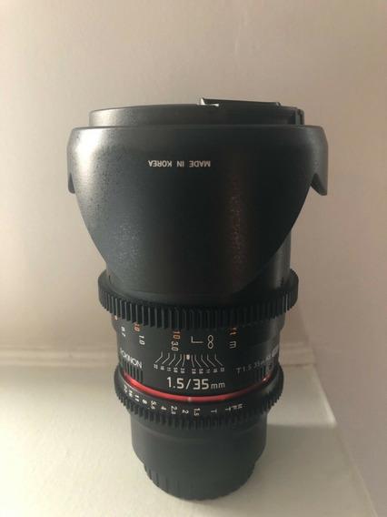Lente Rokinon Cine 35mm T1.5 As If Umc Para Canon Ef