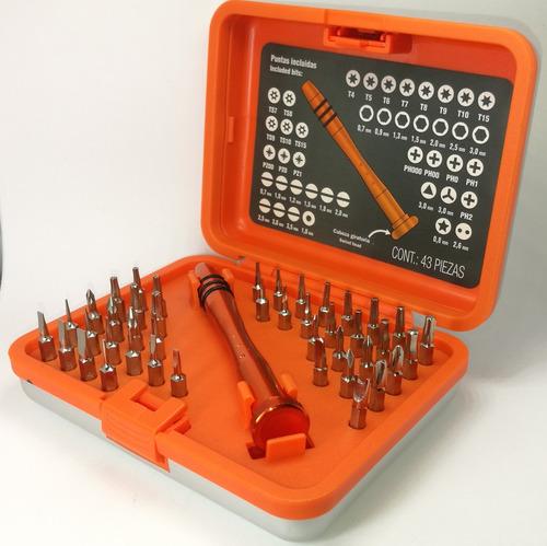 Kit De Desarmadores De 43 Piezas Celulares Laptos Etc Zzzz