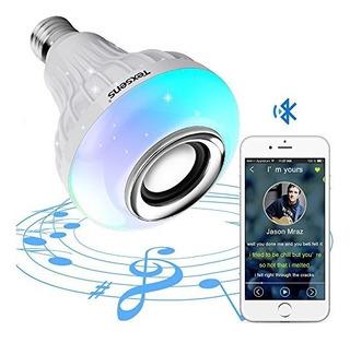 Bombilla Led Texsens Con Altavoz Bluetooth Integrado, 6w E27