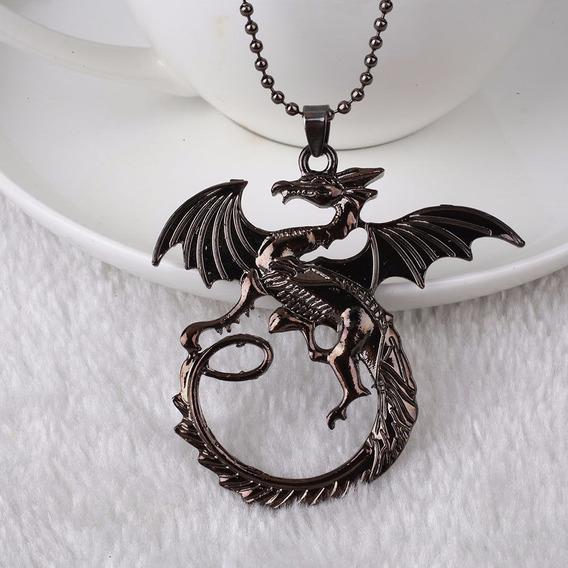Colar Game Of Thrones Casa Targaryen Dragão Fire And Blood