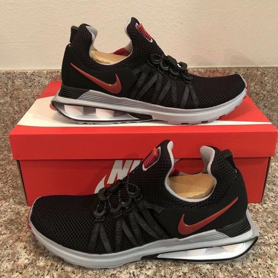 Tênis Nike Shox Gravity Preto / Cinza / Vermelho Original
