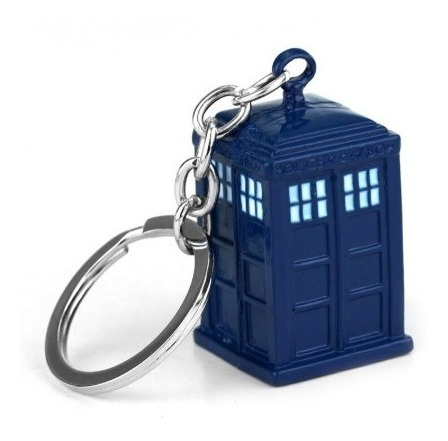 Chaveiro Doctor Who Máquina Do Tempo Tardis Azul
