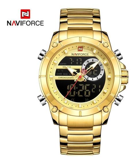Relógio Naviforce Masculino Esportivo Aço Inoxidável Nf9163