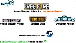 Recarga Diamantes De Free Fire A Tu Cuenta Desde 1,25$