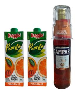 Combo Campari + 2 Jugos Baggio + Vaso 330 Ml