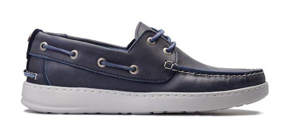 Zapatos Náuticos Cuero Marsanto Austin Azul. Store Oficial