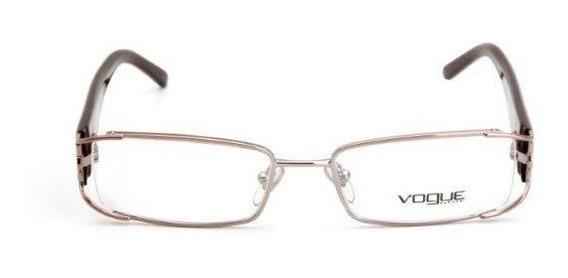 Oculos De Grau Feminino Vogue Quadrado Metal Lilás E Roxo