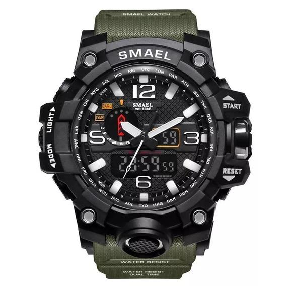 Relógio Masculino Esportivo Militar Shock Smael 1545 Black