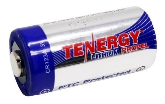 Bateria (pilha) Tenergy Cr123a 3v Proteção Ptc Unidade