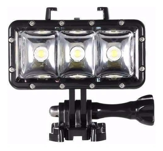 Lanterna A Prova D Água 3 Led Waterproof Para Gopro Sj4000