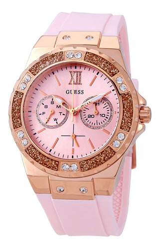 Relógio Guess Feminino Strass Silicone 92696lpgsru2 W1053l3