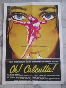 Oh Calcutta Mark Dempsey Cartaz Original De Cinema 140x100cm