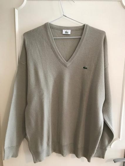 Suéter Masculino Original Lacoste Xl, Usado