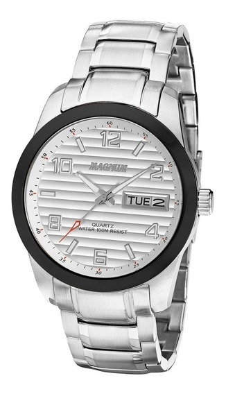 Relógio Magnum Masculino Original Aço Inoxidável Ma32649q