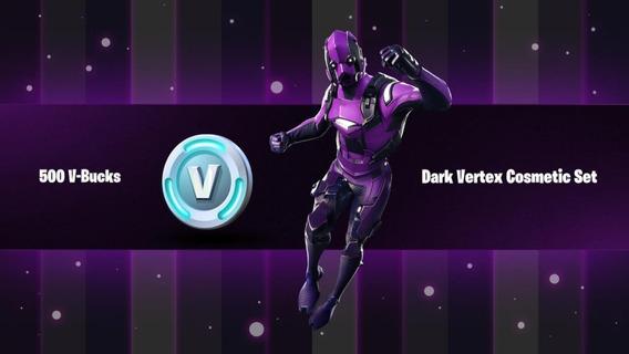 Fornite Dark Vertex Cosmetic + 500 Pavos Xbox One Codigo