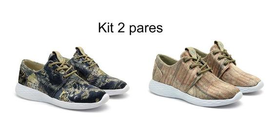 Kit 2 Pares Tênis Casual Terra Pé Original Promoção