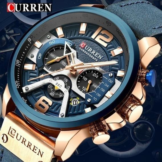 Promoção Relógio De Luxo Curren 8329 Original Cronógrafo