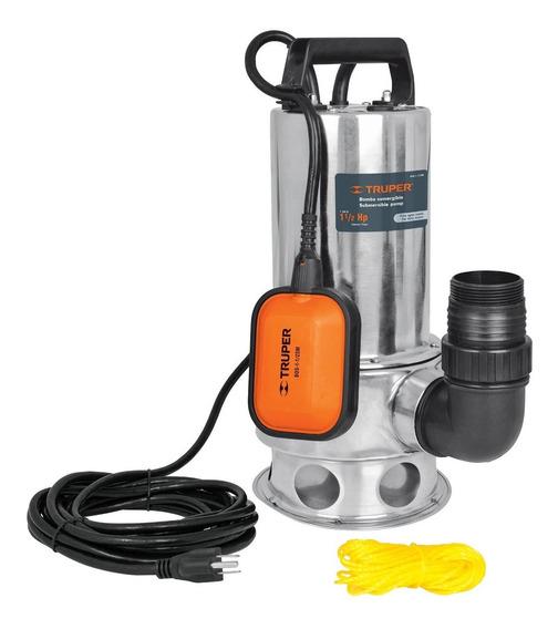 Bomba Sumergible Agua Sucia 1-1/2hp Uso Rudo Truper 12608