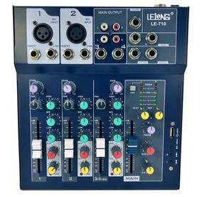 Mesa De Som 4 Canais Bluetooth Mixer Mp3 Teclado Guitarra Nf
