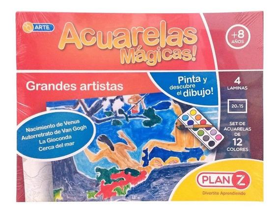 Acuarelas Magicas Set Arte Grandes Artistas Didactico Plan Z