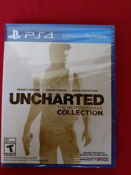 Uncharted The Nathan Drake Collection Lacrado Ps4 Frete R$10