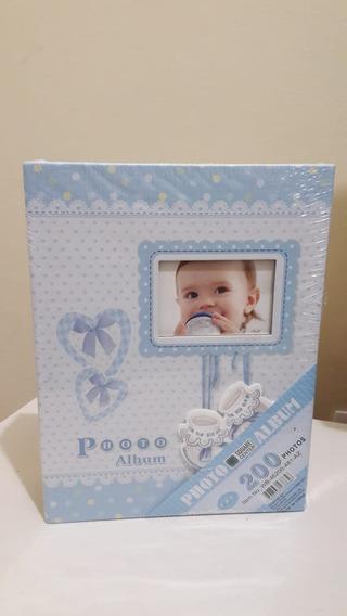 Álbum Do Bebê - 200 Fotos - 10x15 - Azul Ou Rosa