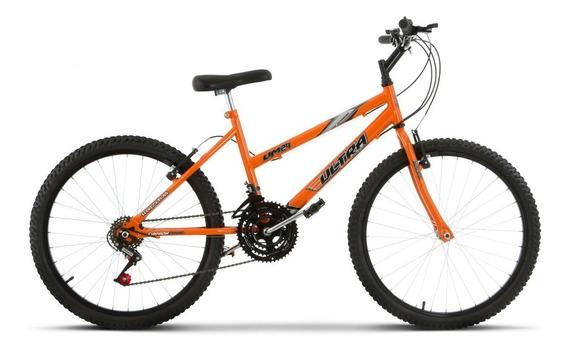 Bicicleta Aro 24 Pro Tork Ultra Freio V Break Laranja